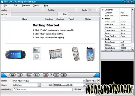 imTOO DVD Ripper (dvd2psp, dvd2ipod, dvd2avi)